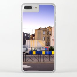 Sunset City Lights, Architecture Photography Clear iPhone Case