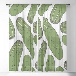 Green Pickles Sheer Curtain