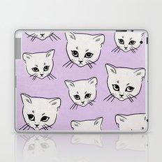 Cat Pattern x Purple Laptop & iPad Skin