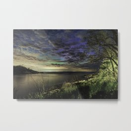 Peek-a-boo Aurora at Folly Cove Metal Print