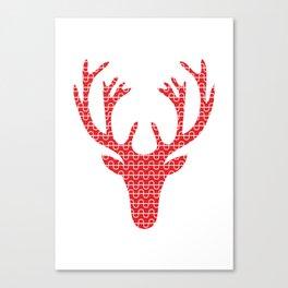 Red deer head Canvas Print
