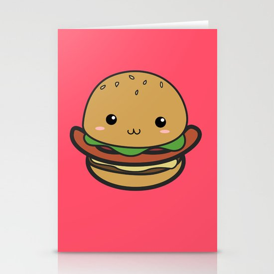 Cute Hamburguer Stationery Cards