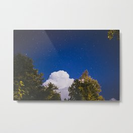 Sweet Dreams - Big White Cloud - Night Sky Stars Night Photography Metal Print