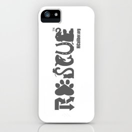 Rescue Gray iPhone Case