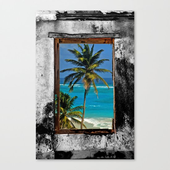 WINDOW ON PARADISE Canvas Print