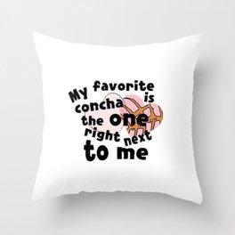 My favorite concha Throw Pillow