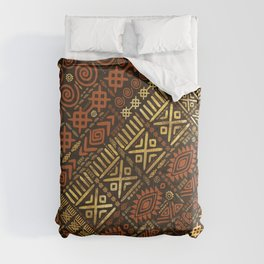 Ethnic African Pattern- browns and golds #5 Comforters