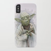 yoda iPhone & iPod Cases featuring Yoda  by Olechka