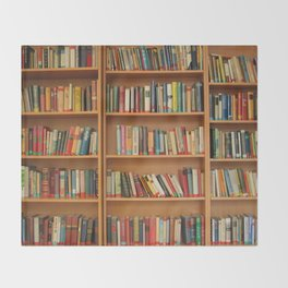 Bookshelf Books Library Bookworm Reading Throw Blanket