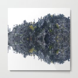 Mirrored landscape 4 pyrenees Metal Print