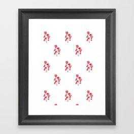 Poppy Wallpaper Framed Art Print