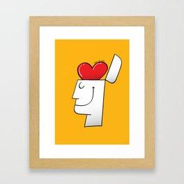 A Heart in my Head Framed Art Print