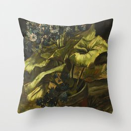 Cineraria by Vincent van Gogh Throw Pillow