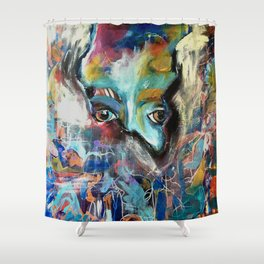 Chaos Enveloped Shower Curtain