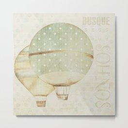 green air baloons Metal Print