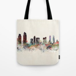 san diego california skyline Tote Bag