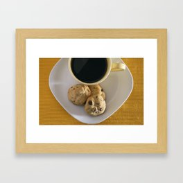 Cookies and Coffee Framed Art Print