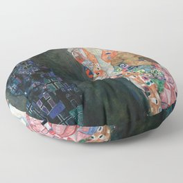 Gustav Klimt - Death and Life Floor Pillow