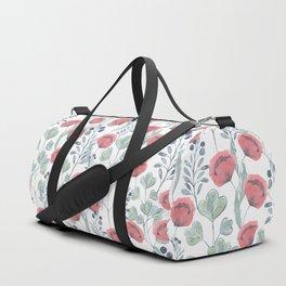 Delicate floral pattern. Duffle Bag