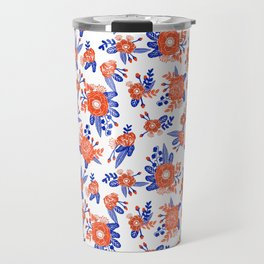 Florida floral orange and blue gators swamp varsity minimal university sports football fan Travel Mug