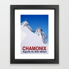 Chamonix ski Framed Art Print