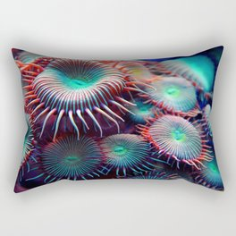 Colorful Anemone Under Sea Photo Rectangular Pillow