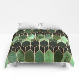 Stained Glass 5 - Forest Green Comforters