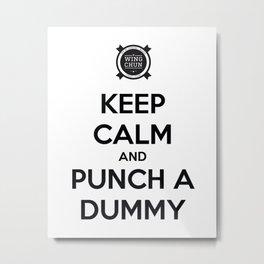 Punch a Dummy Metal Print