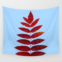 Red Sumac Leaves Wall Tapestry