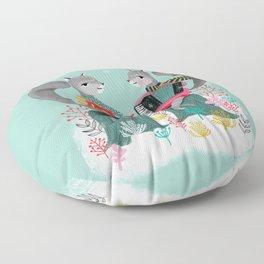 Squirrels' Christmas by Andrea Lauren  Floor Pillow