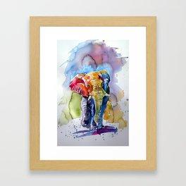 Colorful elephant Framed Art Print