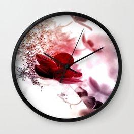 climbing hydrangea red Wall Clock