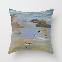 shorebirds Throw Pillow