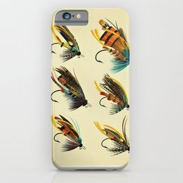 Illustrated Salmon Fly Fishing Game Fish Identification Chart iPhone Case