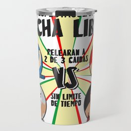 cartel de lucha libre Travel Mug