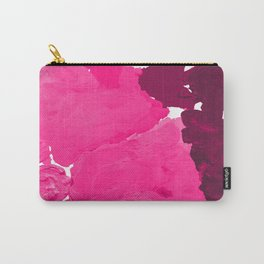 Saria - abstract painting pink magenta blush pastel dorm college girly trend canvas art Carry-All Pouch