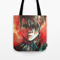 dragon Tote Bags featuring Dragon by Alice X. Zhang