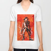 western V-neck T-shirts featuring Western by Tom Ryan
