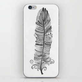 Black and White Feather Zen iPhone Skin