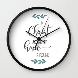 Religous Neck Gaiter In Christ Alone My Hope is Found Christian Neck Gator Wall Clock