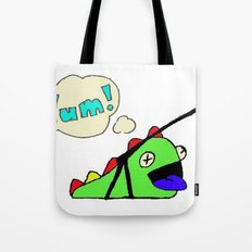 Hungry Slug Monster Tote Bag