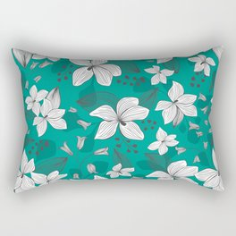 Avery Aqua Rectangular Pillow