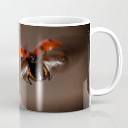 Ladybird in flight Coffee Mug