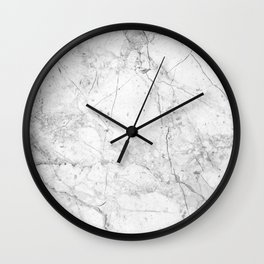 Nordic White Marble Wall Clock