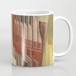 The City, Gables I, cityscape street scene painting by Lyonel Feininger Coffee Mug