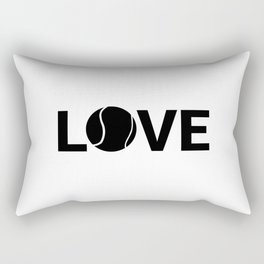 Love Tennis | Sports Racket Art Work Gift Rectangular Pillow