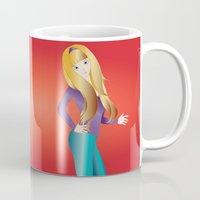 doll Mugs featuring Doll by Flying Cat Artwork