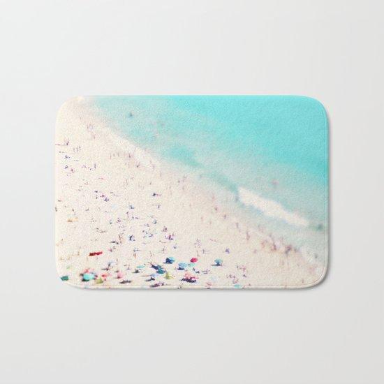 beach love III square Bath Mat