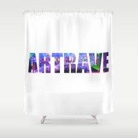 artrave Shower Curtains featuring artRAVE Venus by ARTPOPdesigns