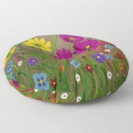 Spring Wild flowers  Floor Pillow